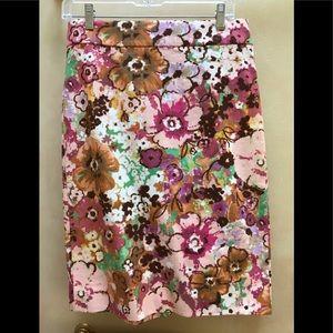 JCrew floral pencil skirt 4